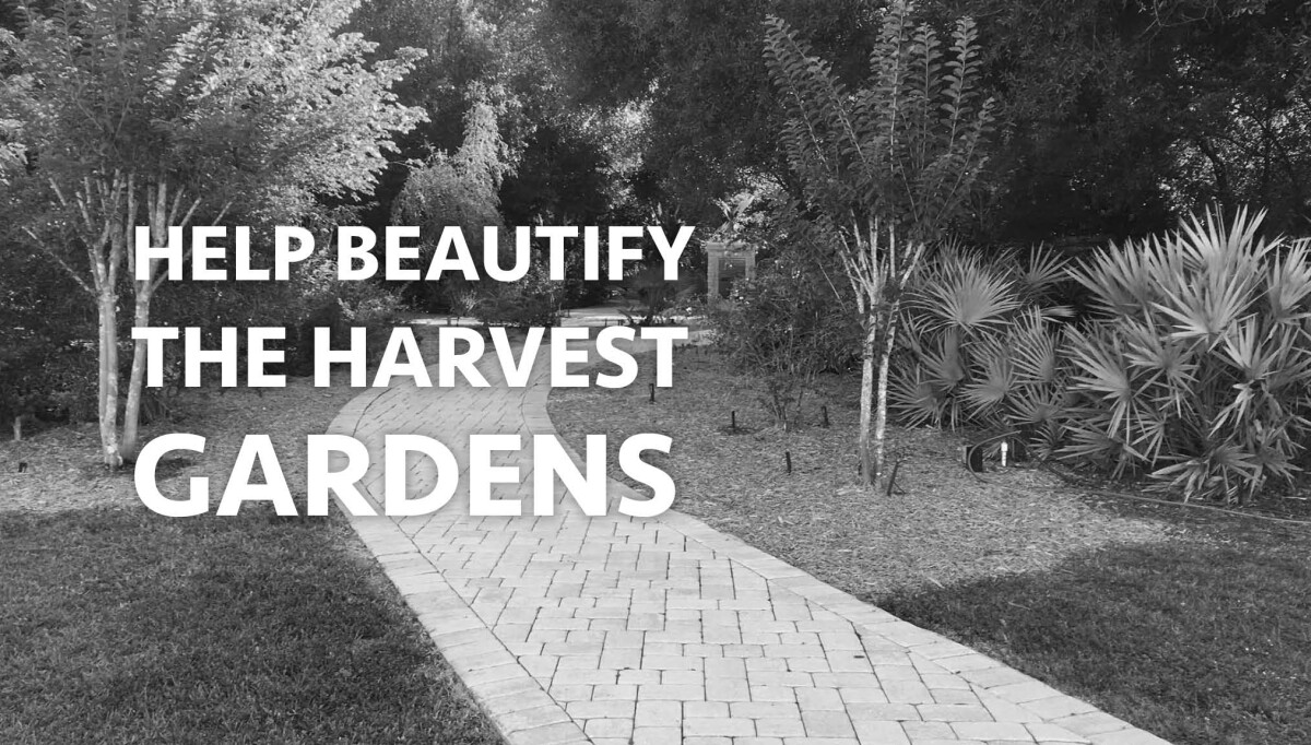 HELP BEAUTIFY THE HARVEST GARDENS